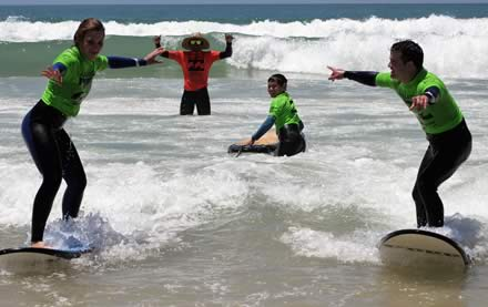 Jeffreys Bay - Riding a wave for the first time